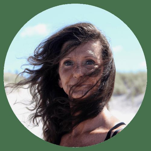 Annett Hansen am Strand