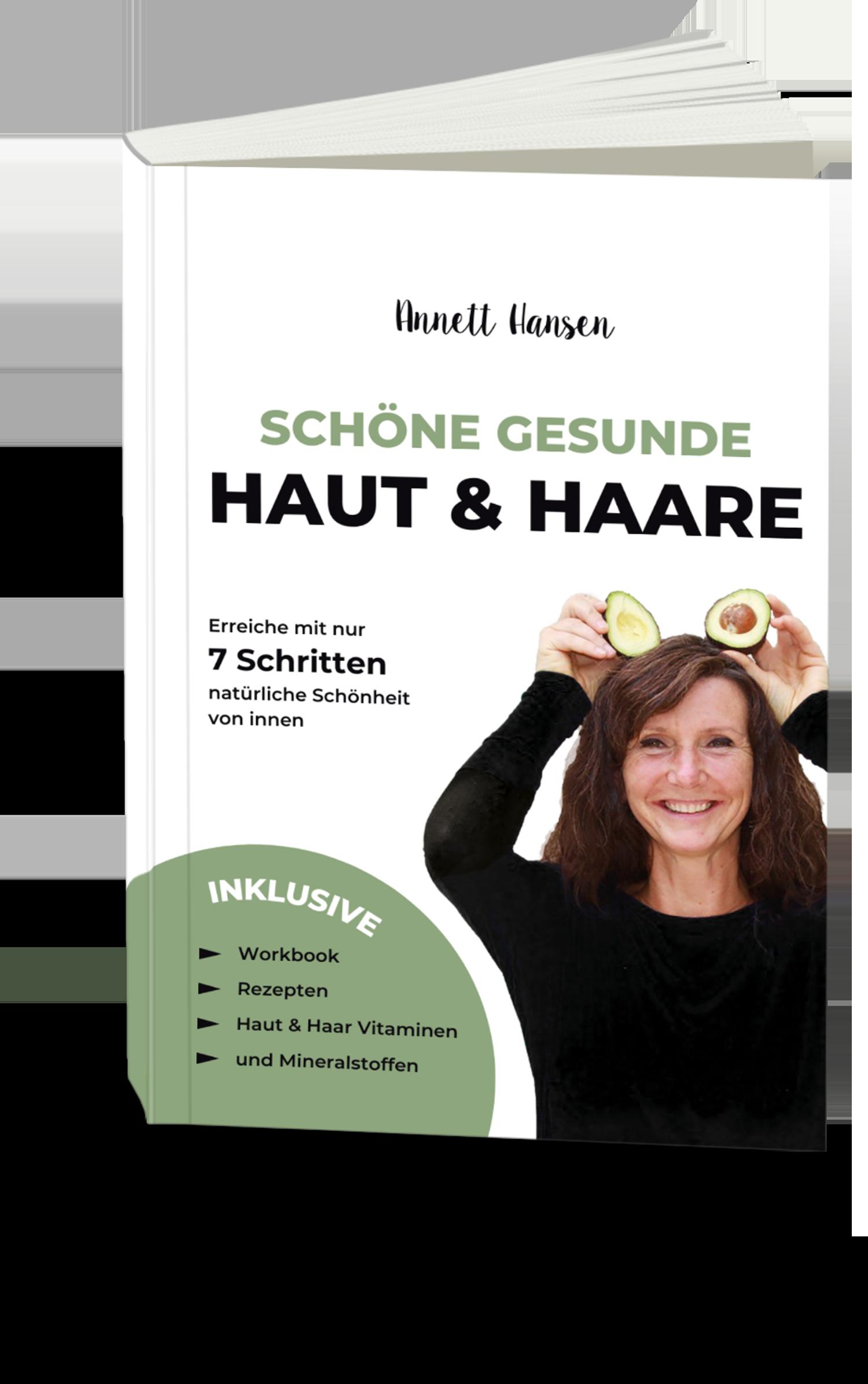 Buch schöne gesunde Haut und Haare Annett Hansen