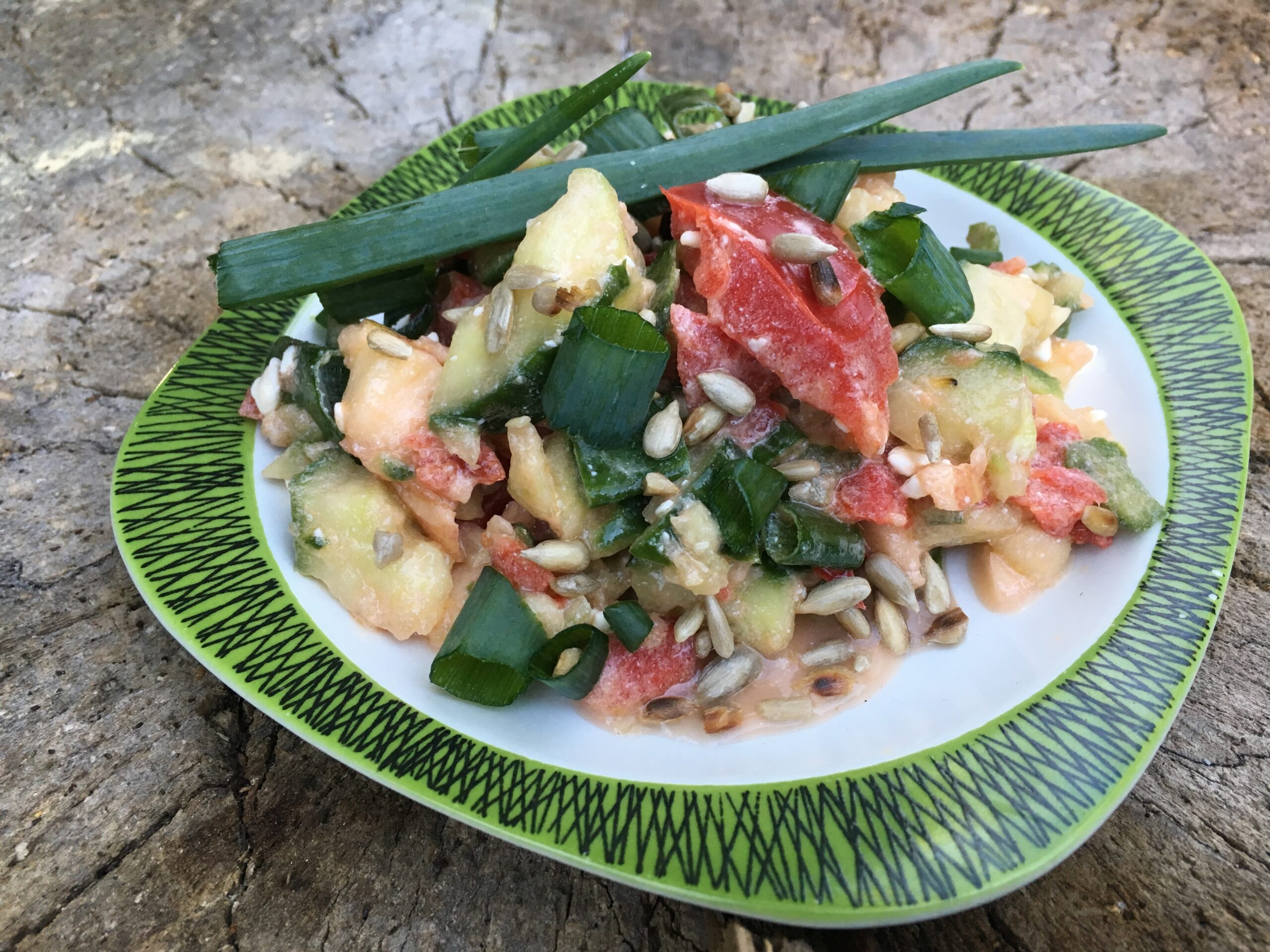 Gurken Paprika Feta Salat Gesundheitsexpertin Annett Hansen