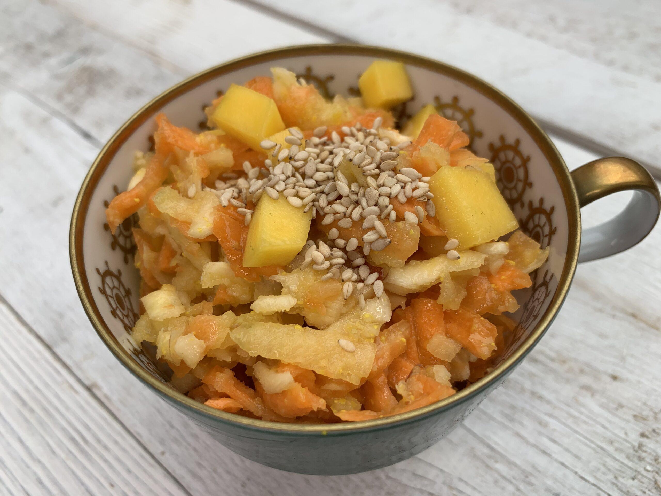 Pastinaken Karotten SAlat Gesundheitsexpertin Annett Hansen