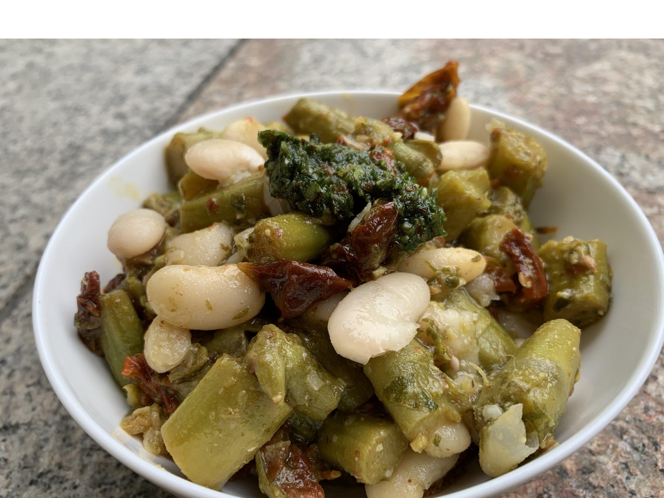 Spargel weiße Bohnen Salat Gesundheitsexpertin Annett Hansen